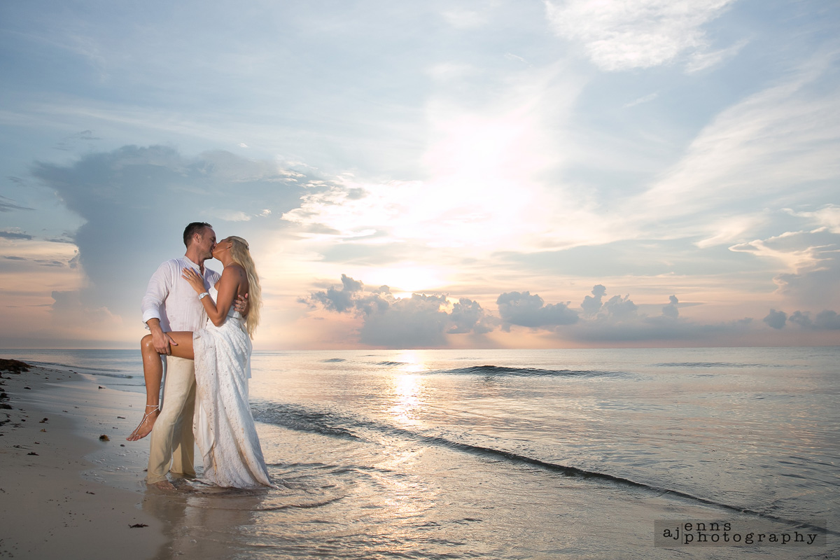 Some off camera flash during sunrise on the beach