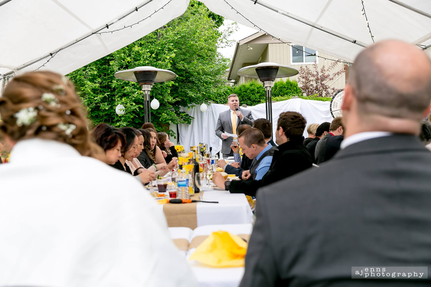 The best man roasting the groom during the speeches