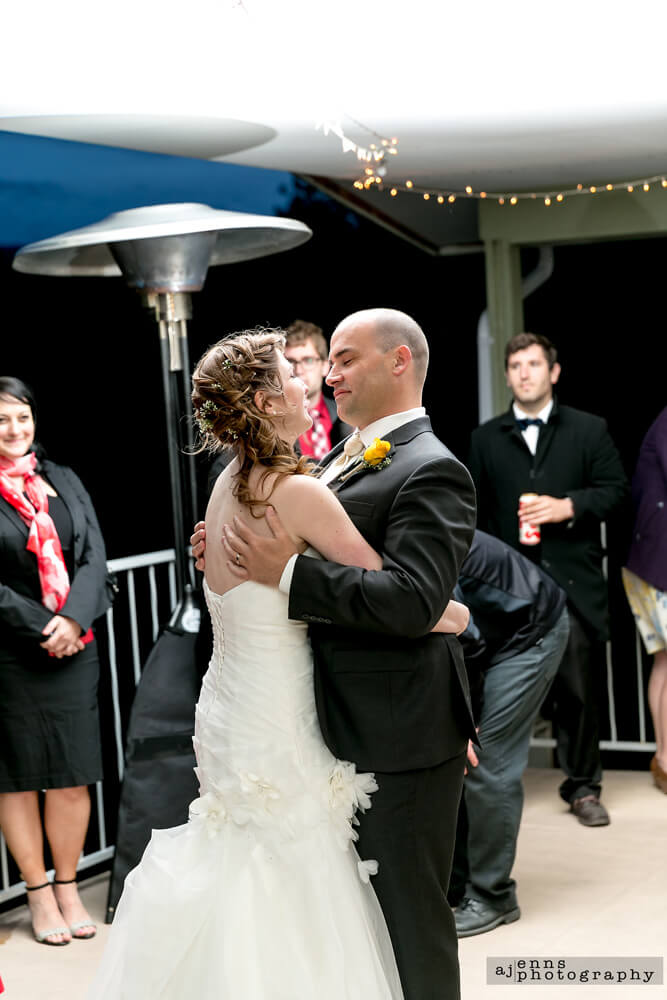The first dance with Bianca and Scott